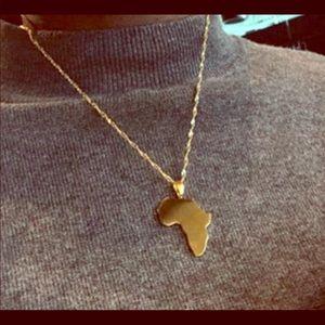 Jewelry - Africa map unisex pendant